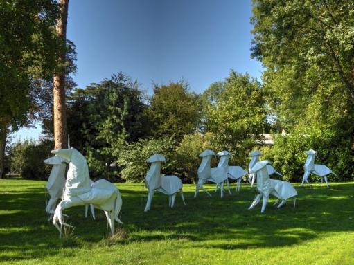 Le parc et oeuvres d art