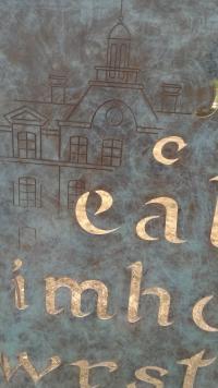 Detail sculpture lettres