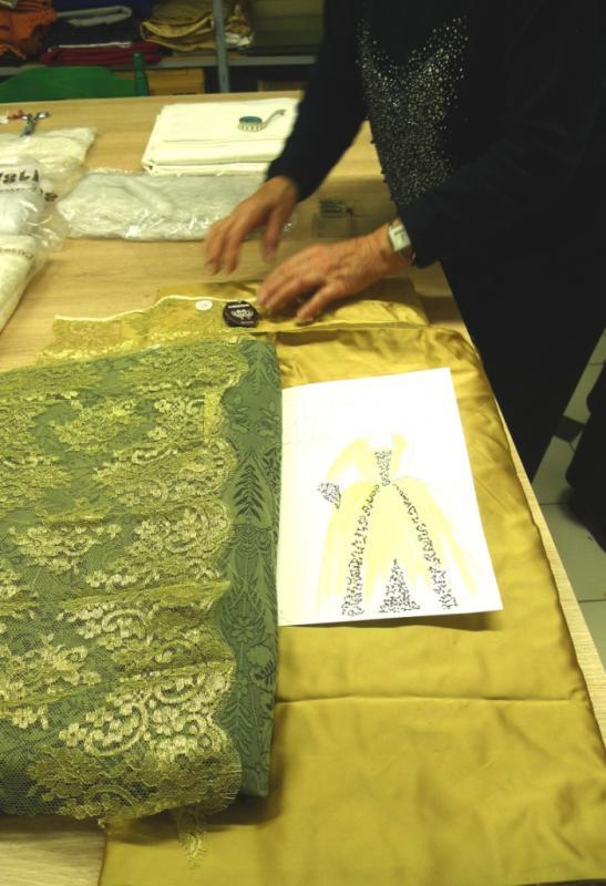 Tissus pour 3 robes Louis XV