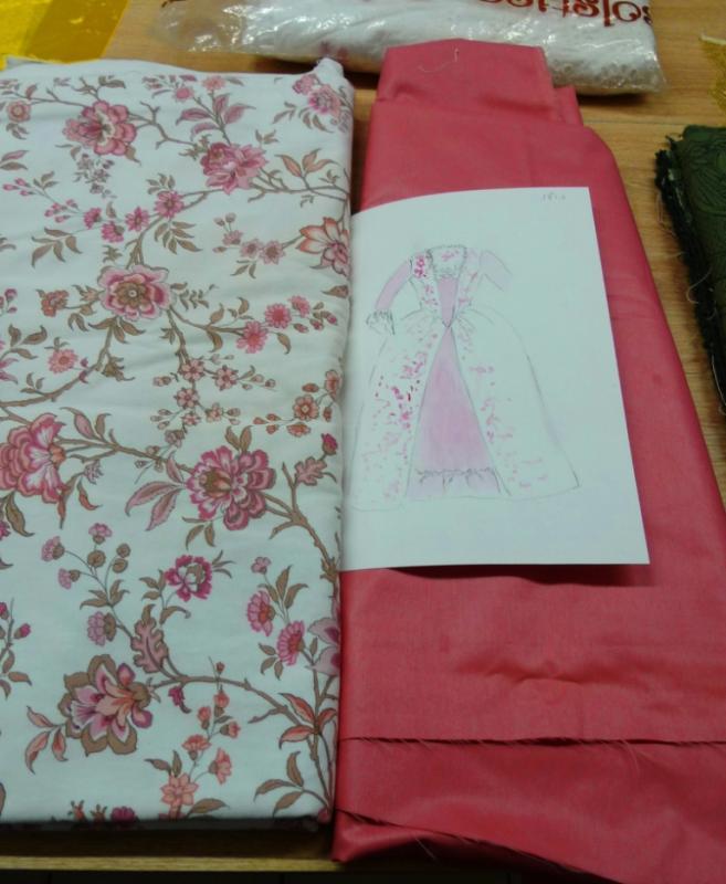 Tissus pour robes Louis xv