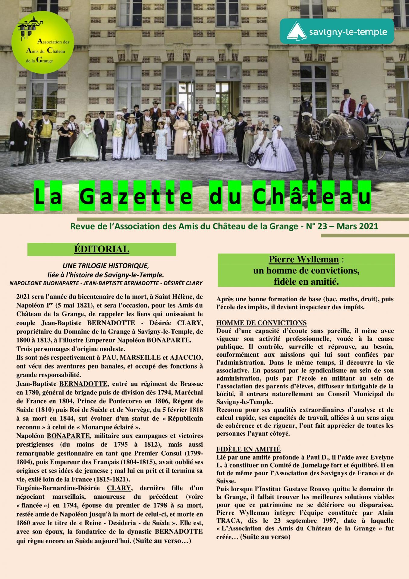 Gazette du Château n° 23