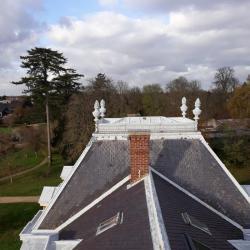 Sur le toit du château. Vue depuis le clocheton